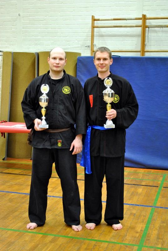Kampf Schwergewicht: Stefan Mittelstädt (Deutscher Vizemeister) und Christian Strauch (Deutscher Meister)
