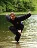 Michael mit Adlertechnik im Wasser