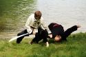 Meister Stefan und Andreas mit einer Säbelabwehr