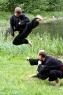 Michael und Andreas mit einem Drehsprung