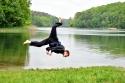 Michael mit Akrobatik