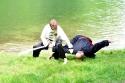 Meister Stefan und Andreas bei einer Partnerübung mit Säbel