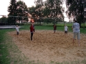 Volleyball zum Sonnenuntergang